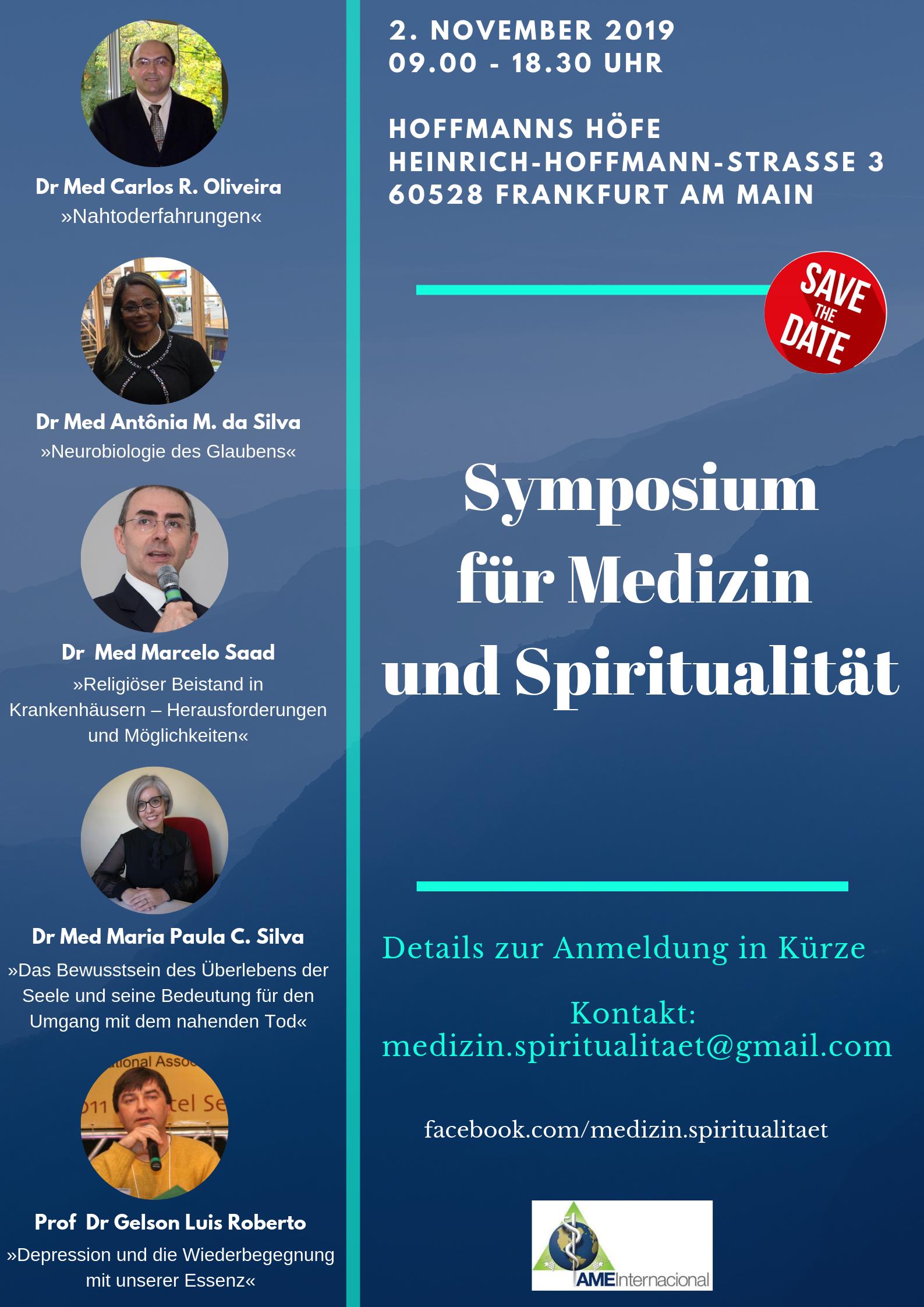 02.11.2019 - Symposium für Medizin und Spiritualität